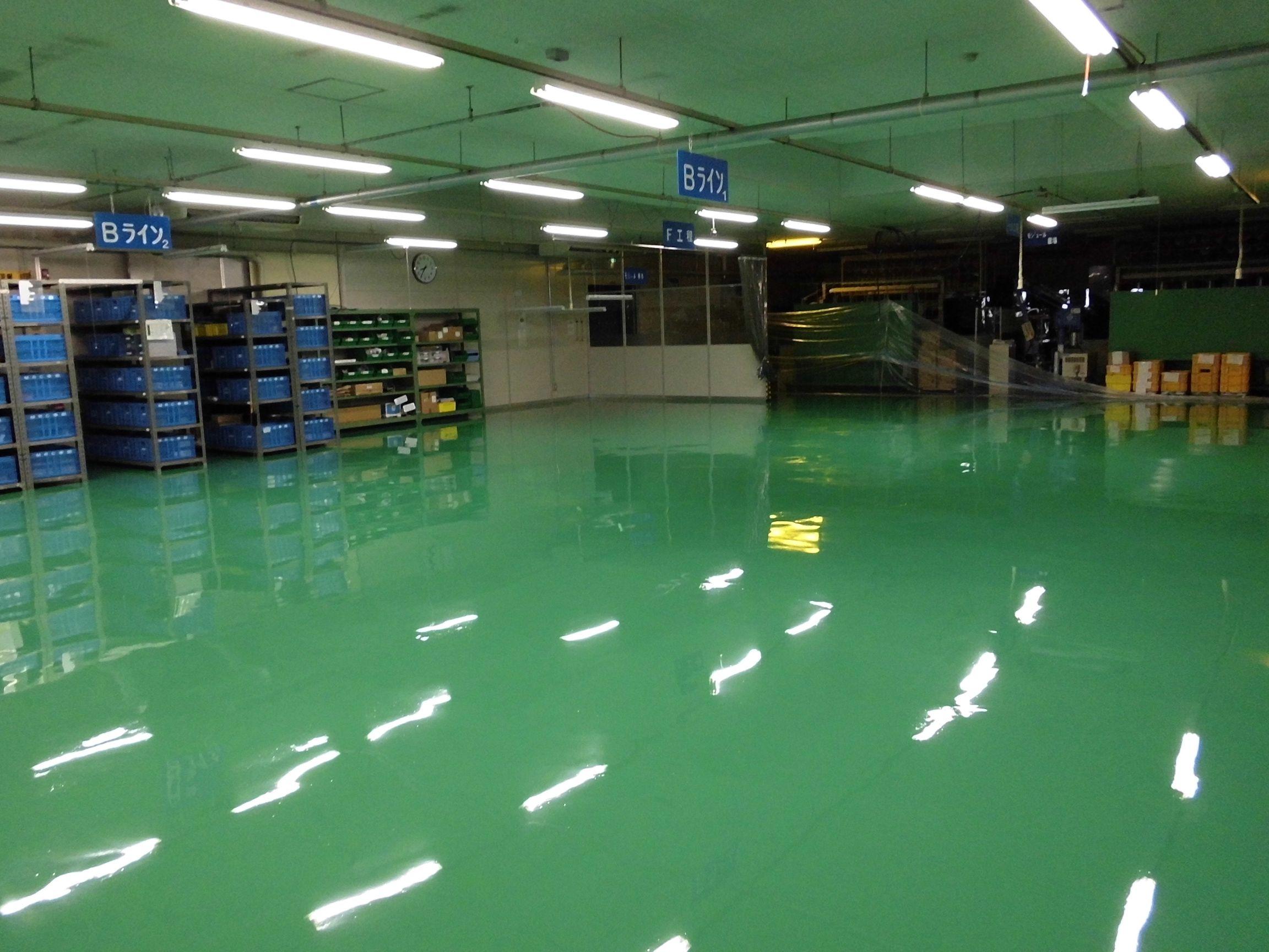 工場床塗装工事